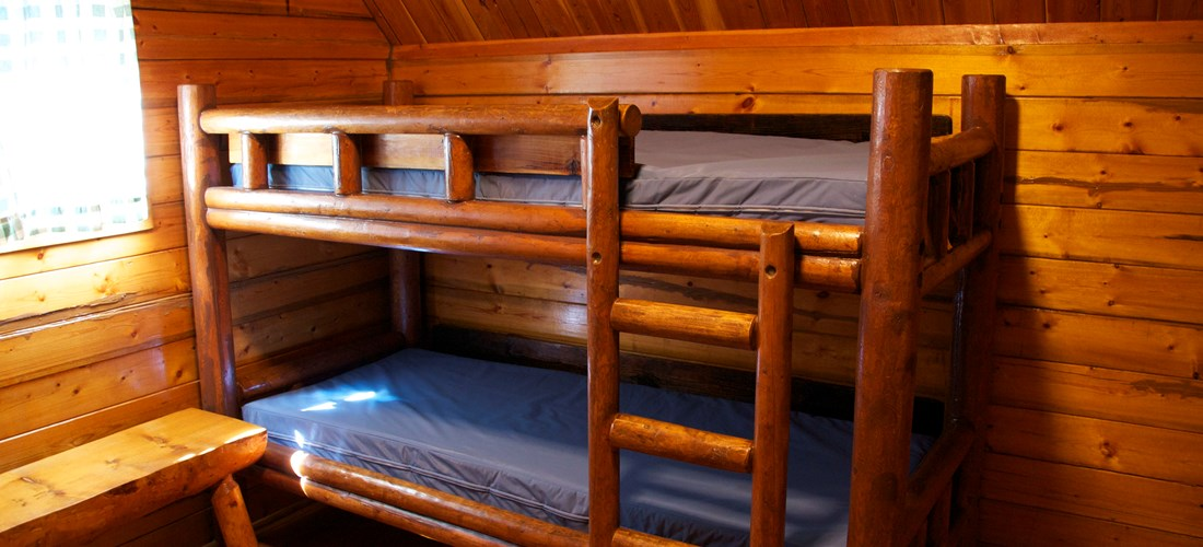 Bunk Beds in rustic cabins