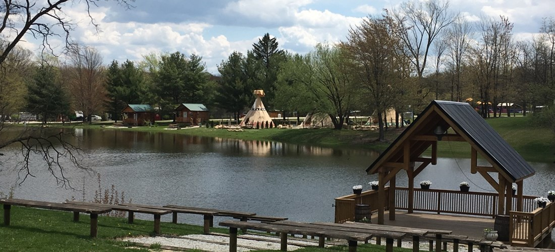 Teepees on the Big Fishing Pond... what a beautiful site!
