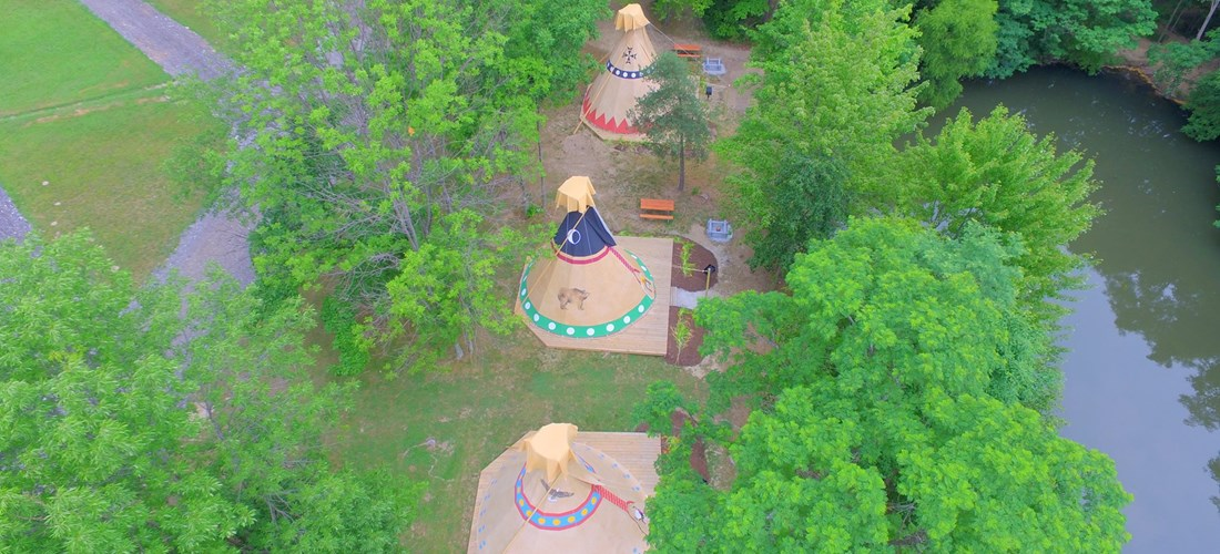 Aerial view of the teepee village (3)