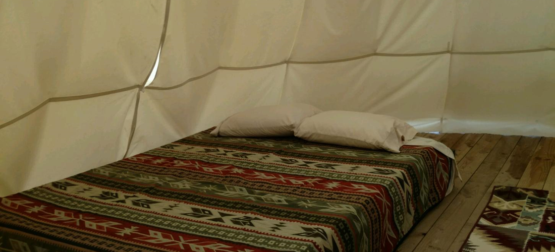 Teepee - Interior (All 3 have queen side beds w/ linens)