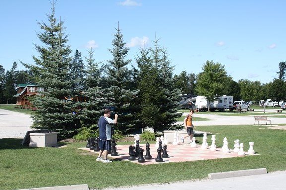 Giant Chess/Checkerboard Set