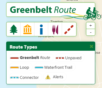 The Greenbelt Cycling Route