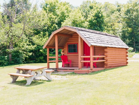 Fall Camping Cabin Deal Photo