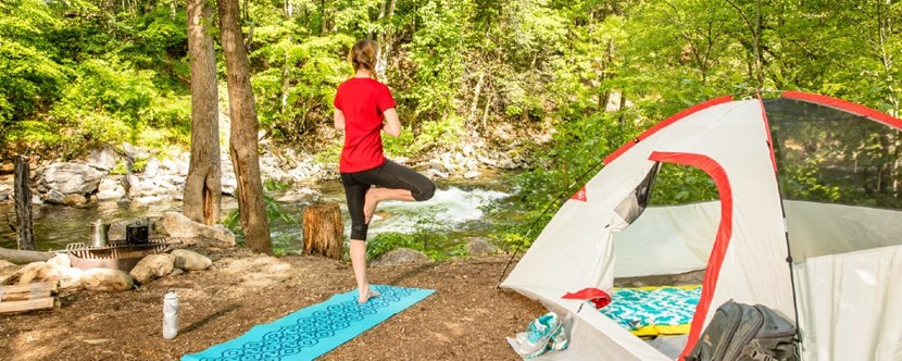 Get away from it all with a riverside tent site