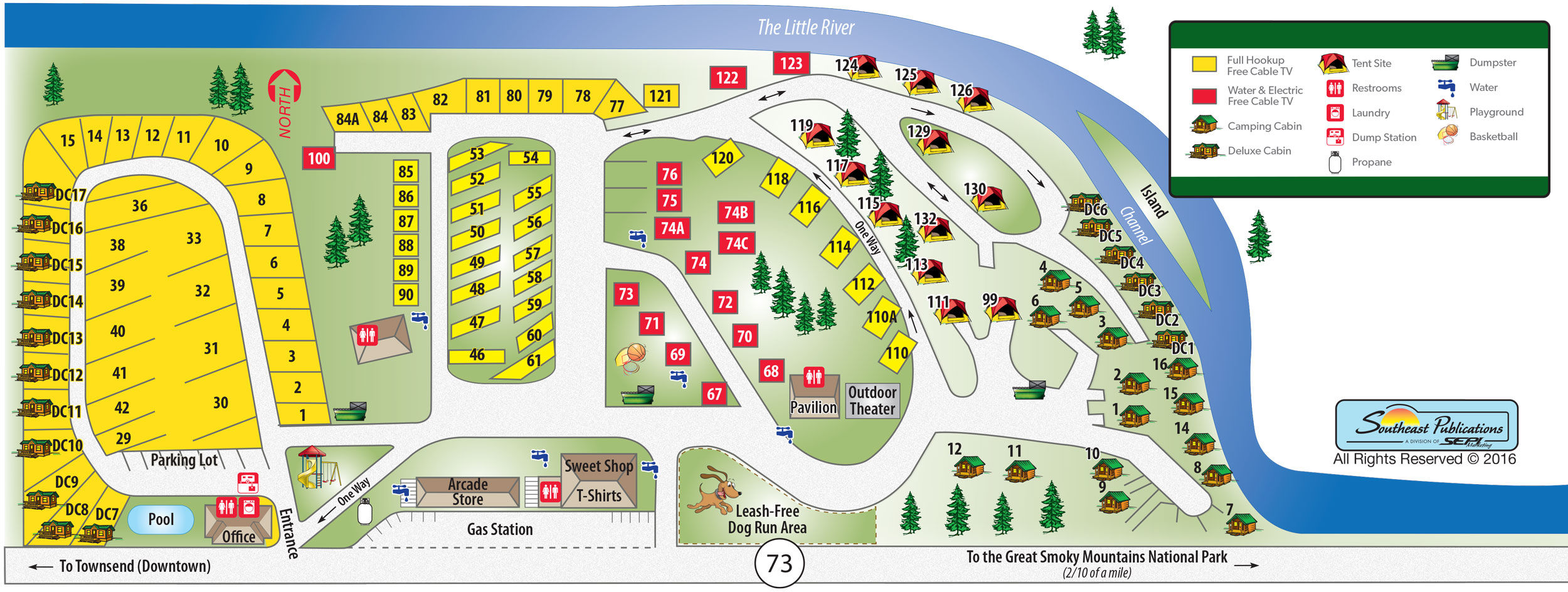 Two Rivers Rv Park Map
