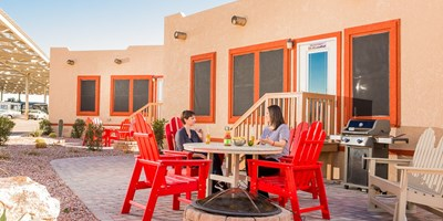 Check out the Deluxe Cabins at the Tucson/Lazydays KOA