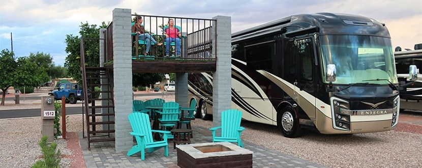 Double decker RV site let's you enjoy your stay in style!