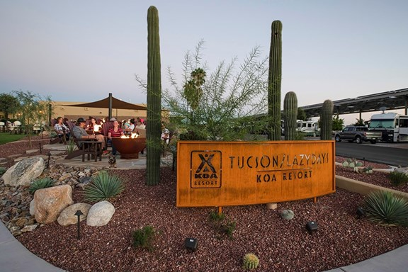 Welcome to Tucson Lazydays KOA Resort