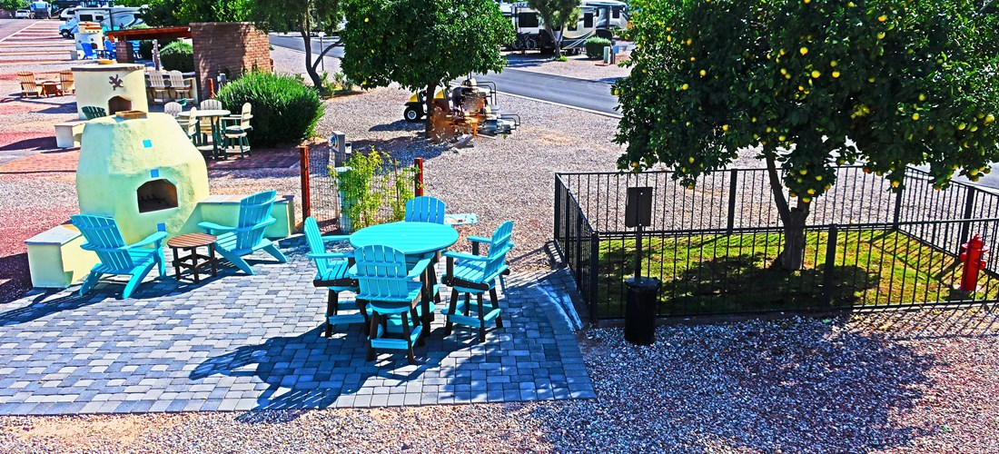 Patio, Fireplace, Pet Yard Sites