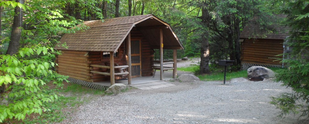 Outside Camping Cabin 8