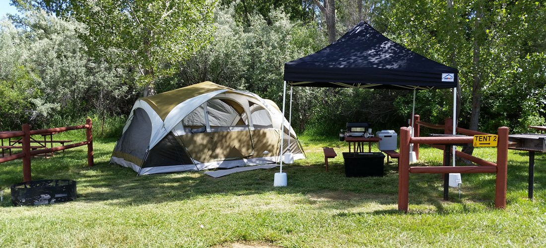 Tent site with Electric