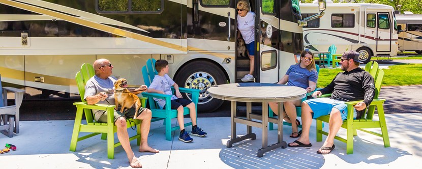 Try out our NEW and improved RV Sites with KOA Patio