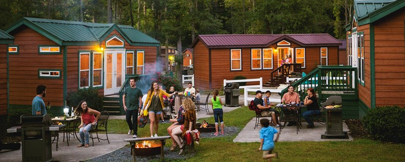 Camp with family & friends in our Deluxe Cabins