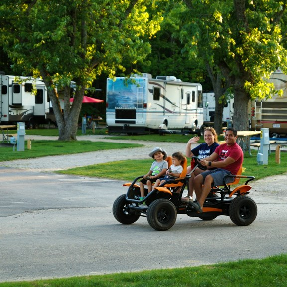 Tour the campground on a 4 wheeler