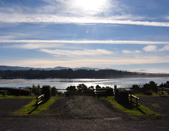 From our bay view sites you can see it all! The Pacific Ocean, Alsea Bay, the Waldport Bridge, sunsets, and more!