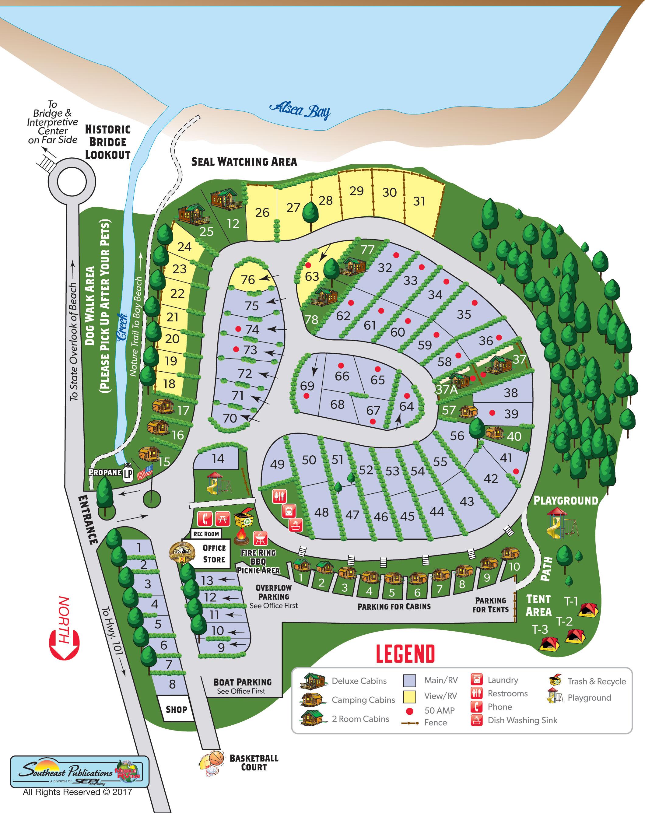 Waldport, Oregon Campground | Waldport / Newport KOA on fll map, route map, coarsegold california map, slc map, zip code map,