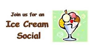 Ice Cream Social Every Saturday in the Summer