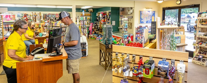 Enjoy our fully stocked KOA General Store!