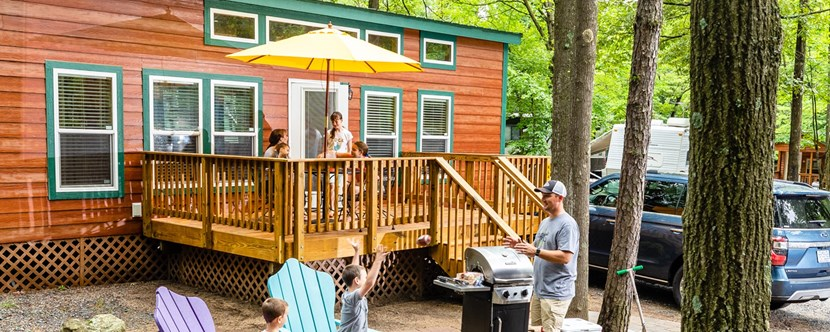 Enjoy your family time in one of our Deluxe Cabins!