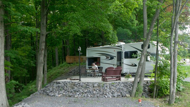Back-in RV site in Sunset Acres