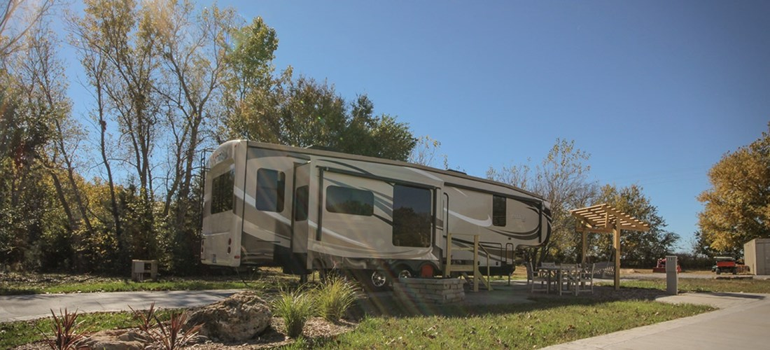 Deluxe RV Site Fall
