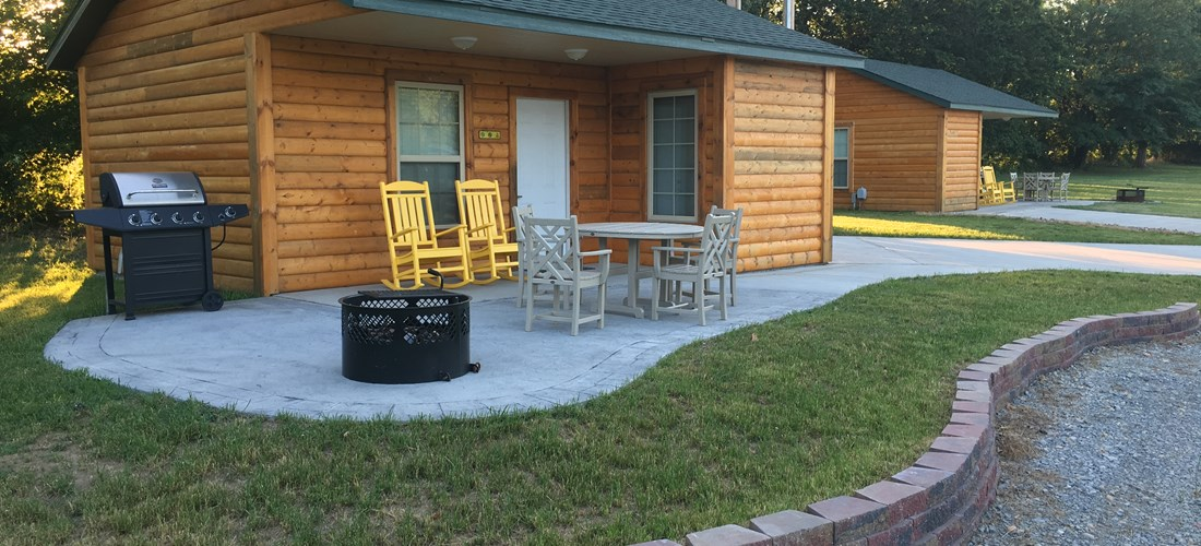 Deluxe Cabin Exterior - Wheelchair access.
