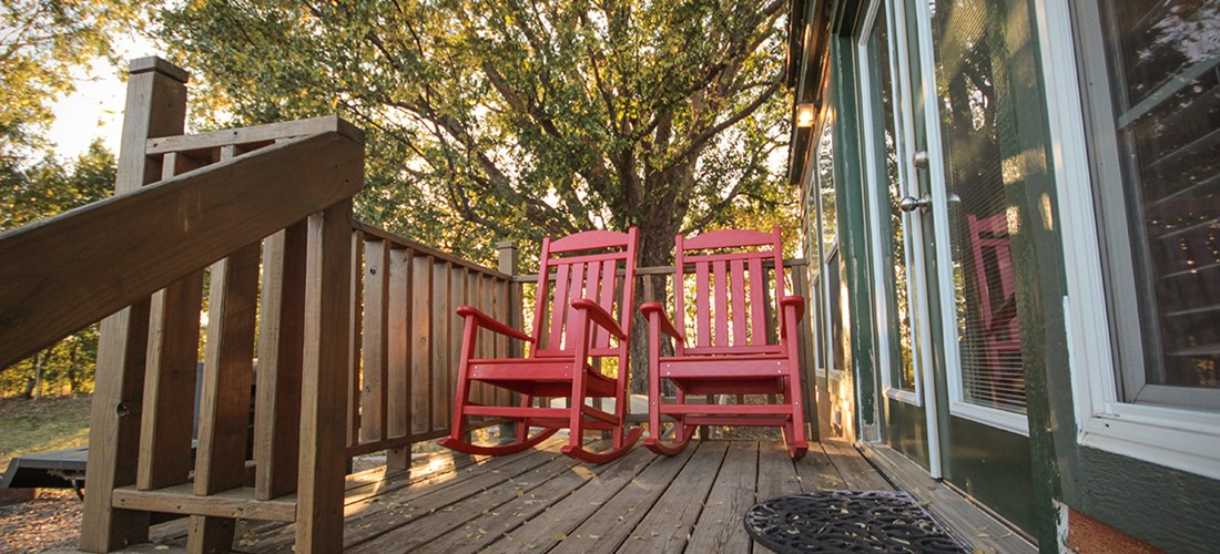 Rocking Chairs at Deluxe Cabin Loft