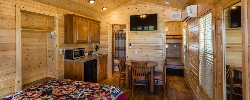 Deluxe Cabins and Deluxe RV Sites