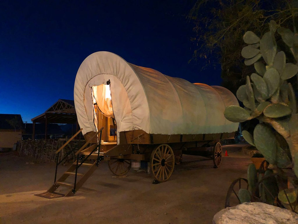 Adventures in Glamping: Sleep in an Authentic Covered Wagon