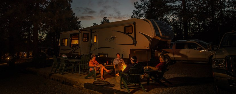 Starry Nights at the Deluxe Patio RV Campsite Sites