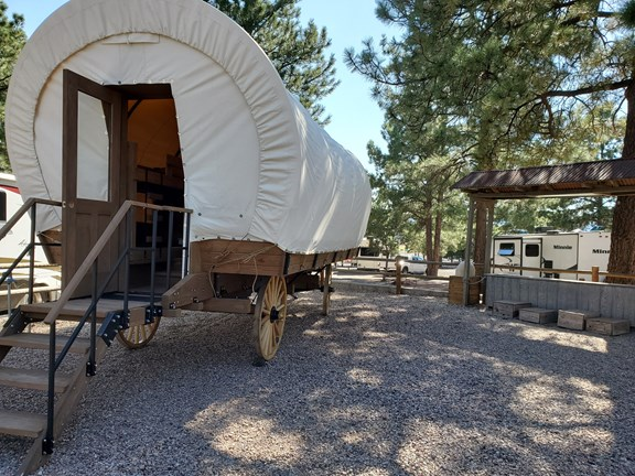Sleep in an Authentic Conestoga Covered Wagon