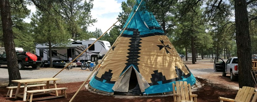 Teepees at Williams / Circle Pines KOA Campground