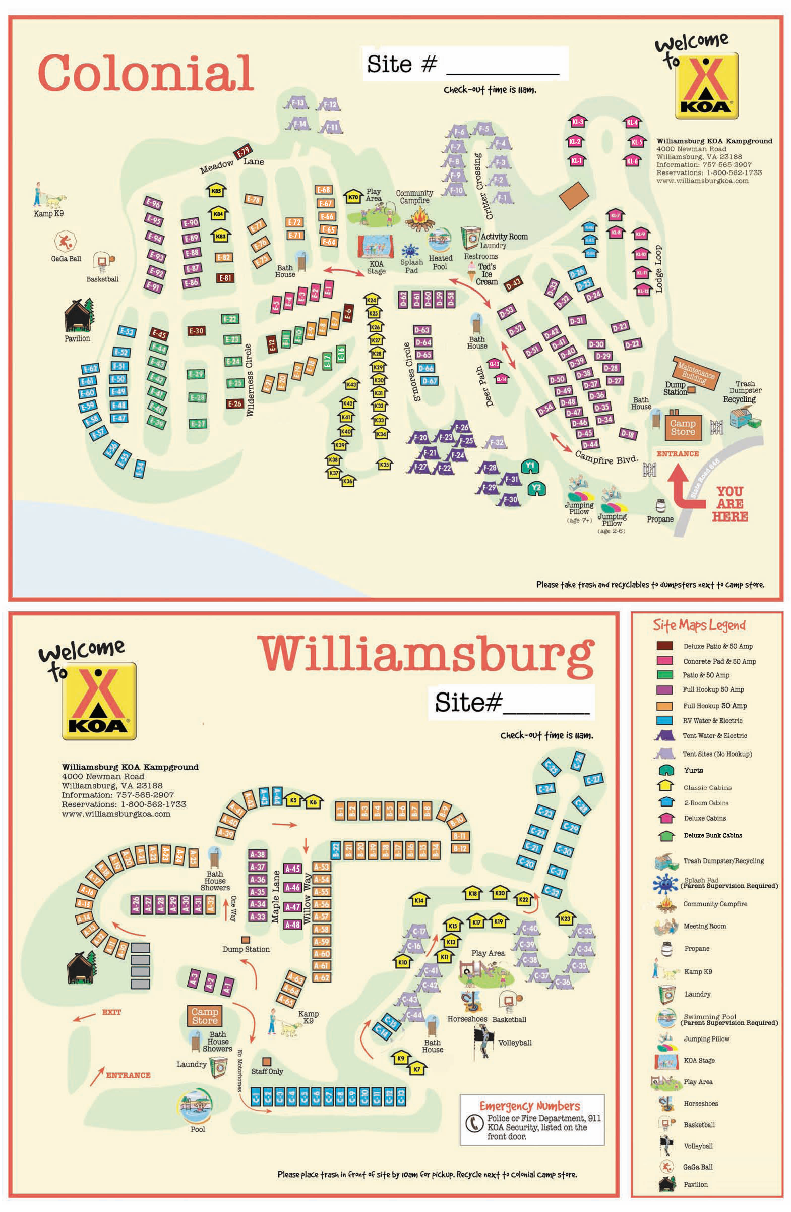 Williamsburg Virginia Campground Williamsburg Busch Gardens - Map of us wiliamburg virginia