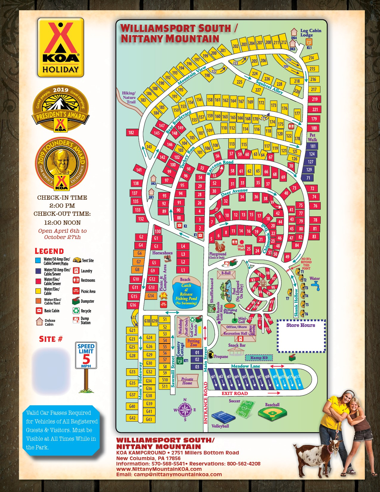 New Columbia, Pennsylvania Campground | Williamsport South / Nittany on santa's village camping map, idlewild map, from valley forge road duncansville on map, silverwood theme park camping map, darien lake camping map, amusement map,