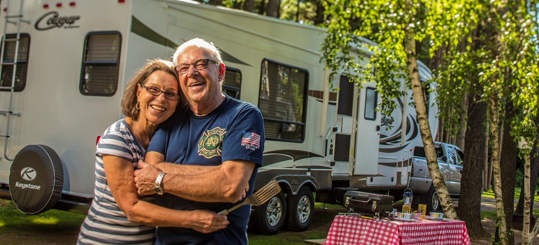 Happy Camping couple
