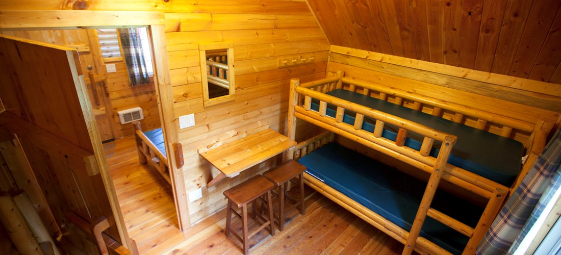 Two Room Camping Cabin