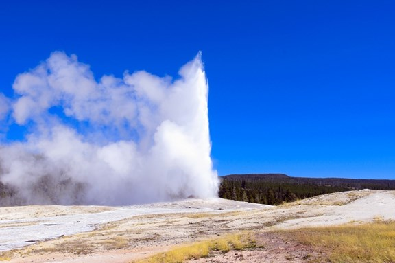 Old Faithful  - 30 miles from Yellowstone KOA