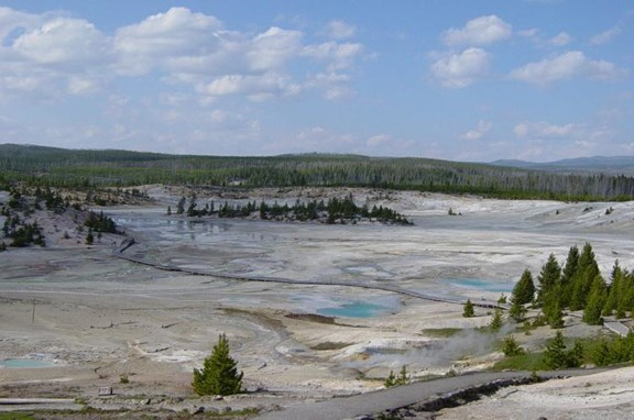 Norris Geyser Basin - 28 miles from Yellowstone KOA
