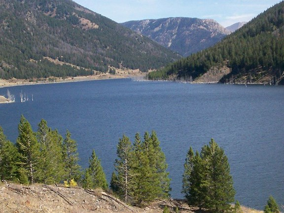 Quake Lake - 30 miles from Yellowstone KOA