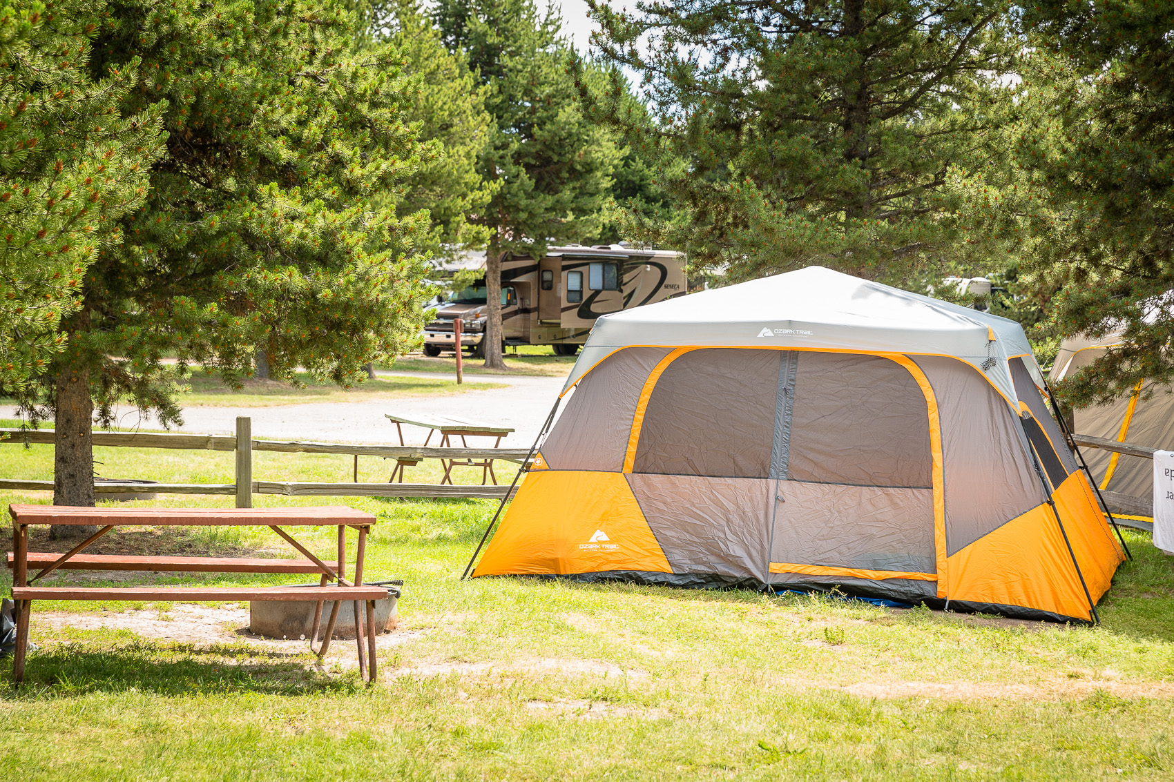 west yellowstone, montana tent camping sites | yellowstone park