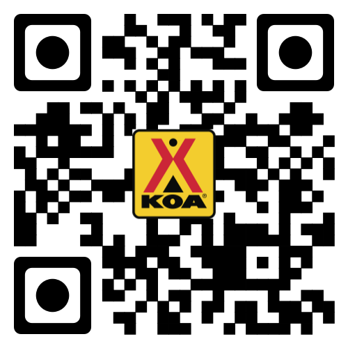 Scan This to get the KOA Camping App