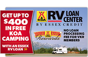 Get $600 in free camping with an Essex RV Loan