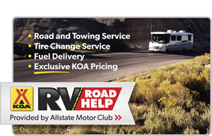 KOA RV Road Help Provided by Allstate