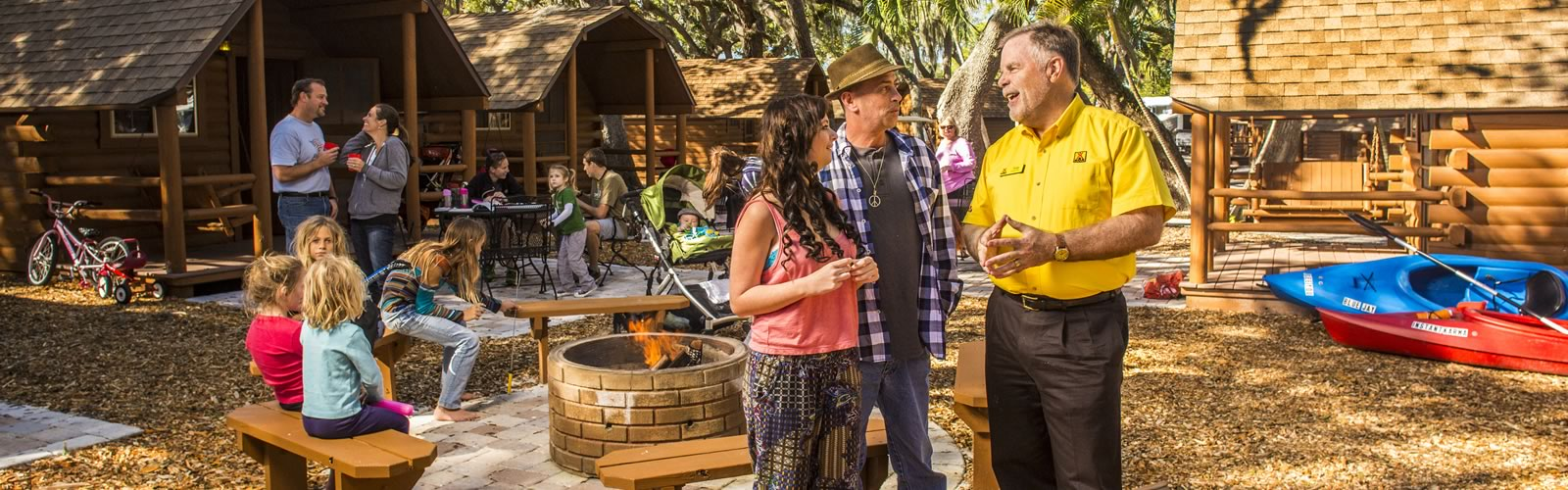 Over 500 locations - The knowledgeable staff members in yellow shirts at all of our North American locations provide you with the same KOA experience, no matter which location you choose
