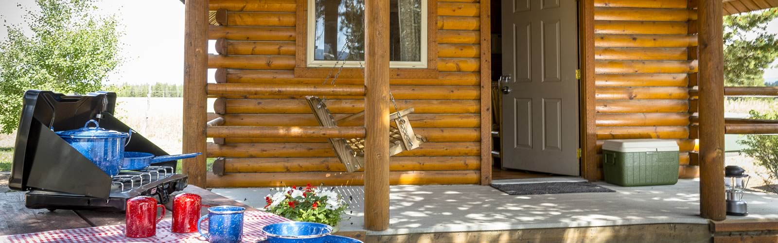 Cooking gear - there's nothing like hot dogs roasted over a campfire - just add your own roasting forks. Some of our camping cabins include barbecues, or you can pack your own portable grill