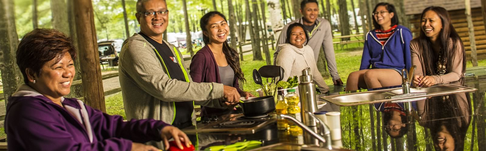 Some of our campsites include gas grills and Deluxe Cabins with kitchenettes feature some limited cooking options. Other campers may need to bring any other cooking gear you want to use