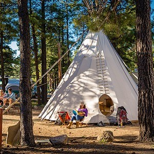 Does KOA Offer Teepee Tents for Camping and Glamping Near Me?